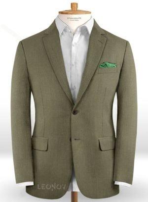 Оливковый пиджак из шерсти – Scabal