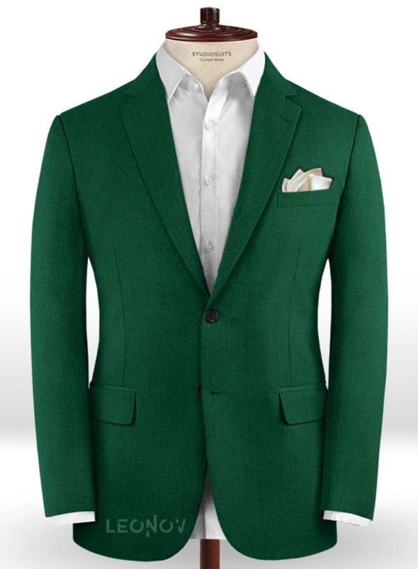 Зеленый пиджак из шерсти – Scabal