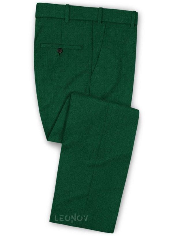 Зеленые брюки из шерсти – Scabal