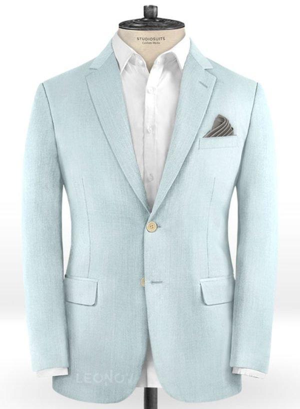 Светло голубой пиджак из шерсти