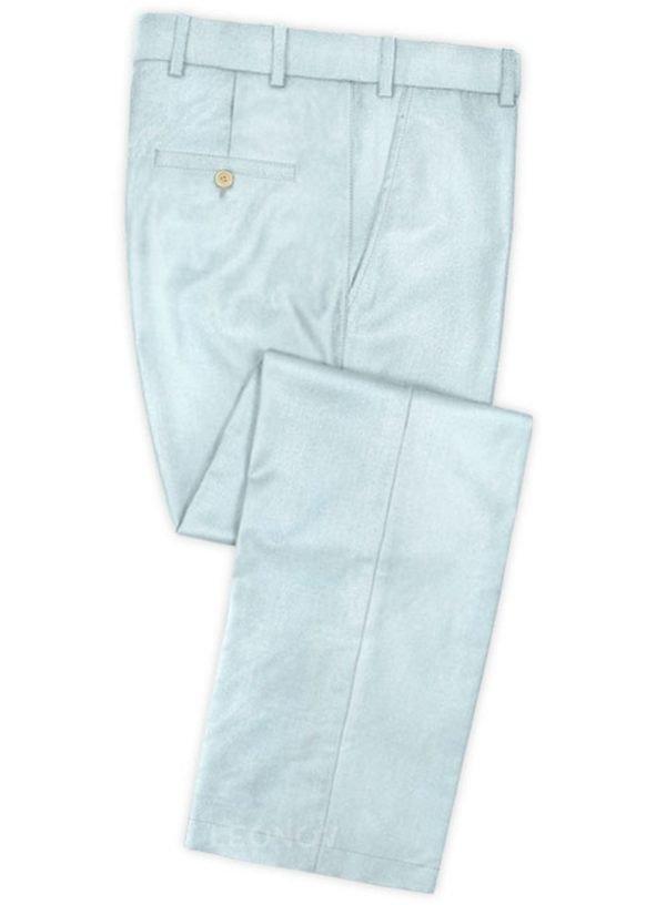 Светло голубые брюки из шерсти