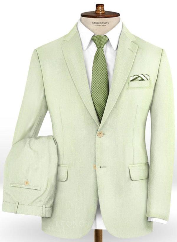 Бледно зеленый костюм из шерсти – Scabal