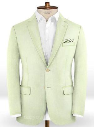Бледно зеленый пиджак из шерсти – Scabal
