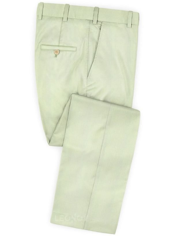 Бледно зеленые брюки из шерсти – Scabal