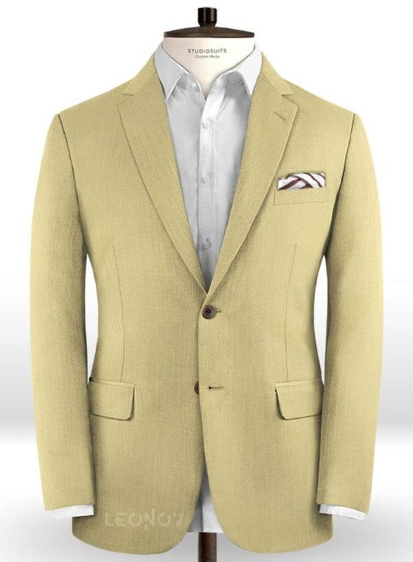 Пиджак из шерсти жемчужный хаки