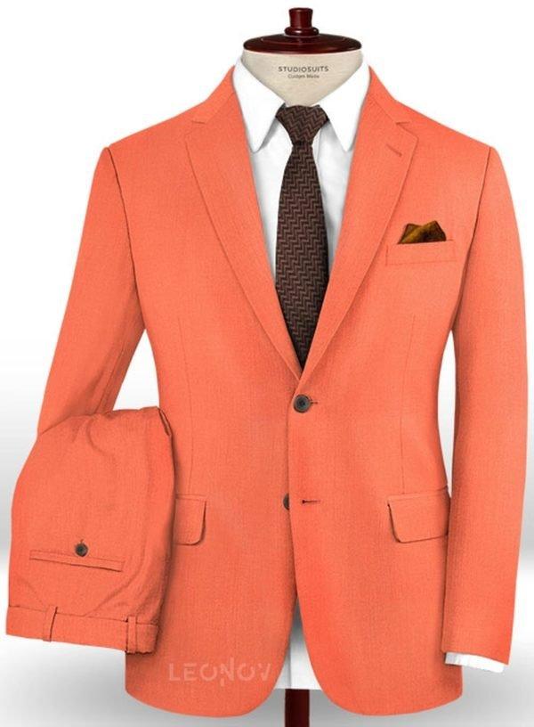 Костюм портлендско оранжевого цвета из шерсти