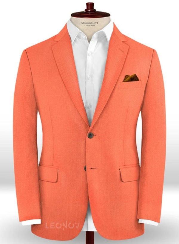 Пиджак портлендско оранжевого цвета из шерсти – Scabal