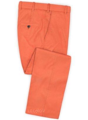 Брюки портлендско оранжевого цвета из шерсти – Scabal