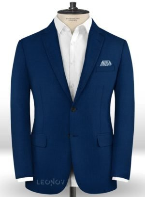Пиджак глубокого синего цвета из шерсти – Scabal