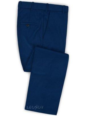 Брюки глубокого синего цвета из шерсти – Scabal