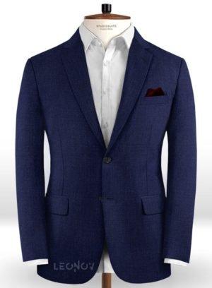 Пиджак из шерсти королевский синий – Scabal