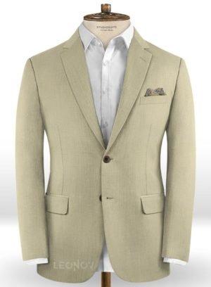 Бежевый пиджак из шерсти