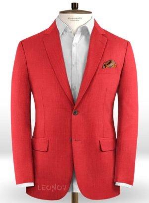 Ярко красный (алый) пиджак из шерсти – Scabal