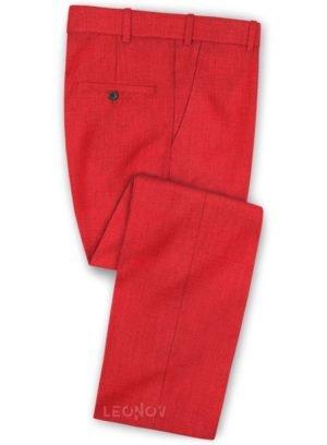Ярко красные (алые) брюки из шерсти – Scabal