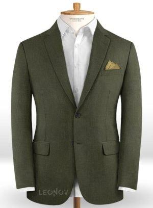 Темно-зеленый пиджак из шерсти
