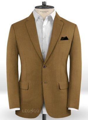 Пиджак цвета сепия из шерсти – Scabal