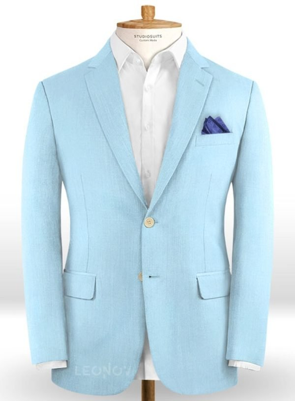 Небесно-голубой пиджак из шерсти – Scabal