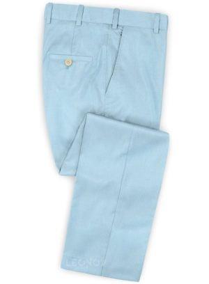 Небесно-голубые брюки из шерсти – Scabal