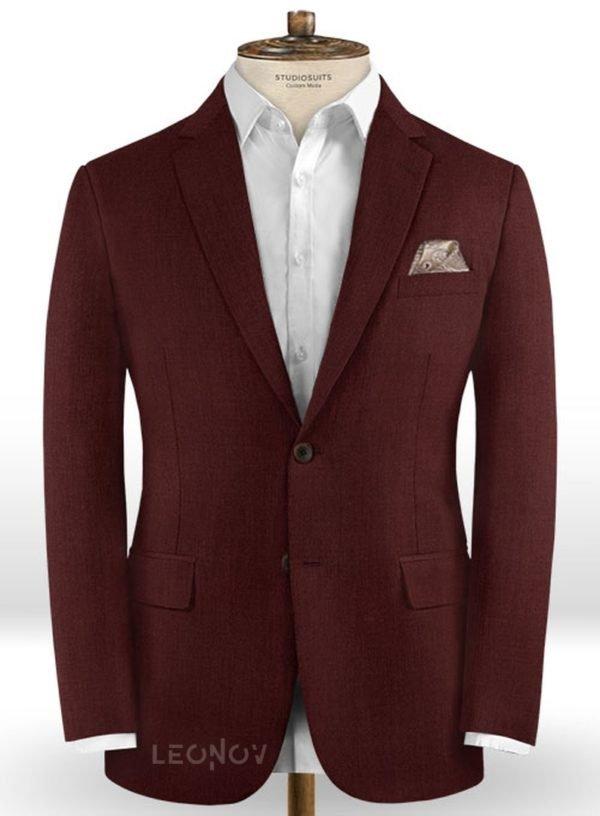 Пиджак винного цвета из шерсти – Scabal
