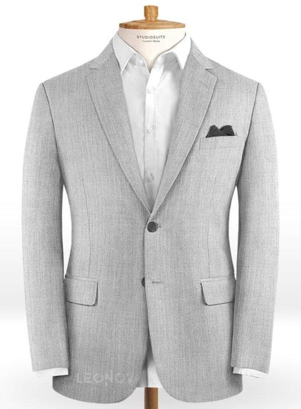 Светло-серый пиджак из камвольной шерсти