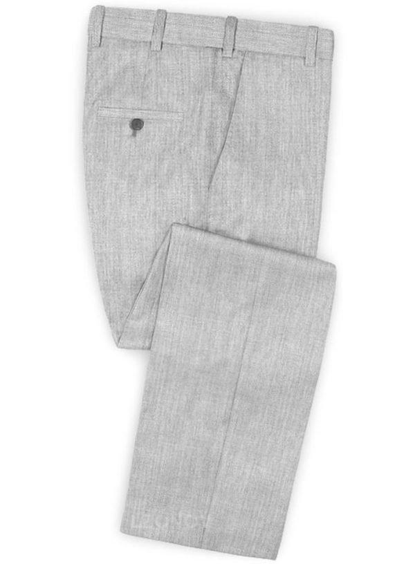 Светло-серые брюки из камвольной шерсти