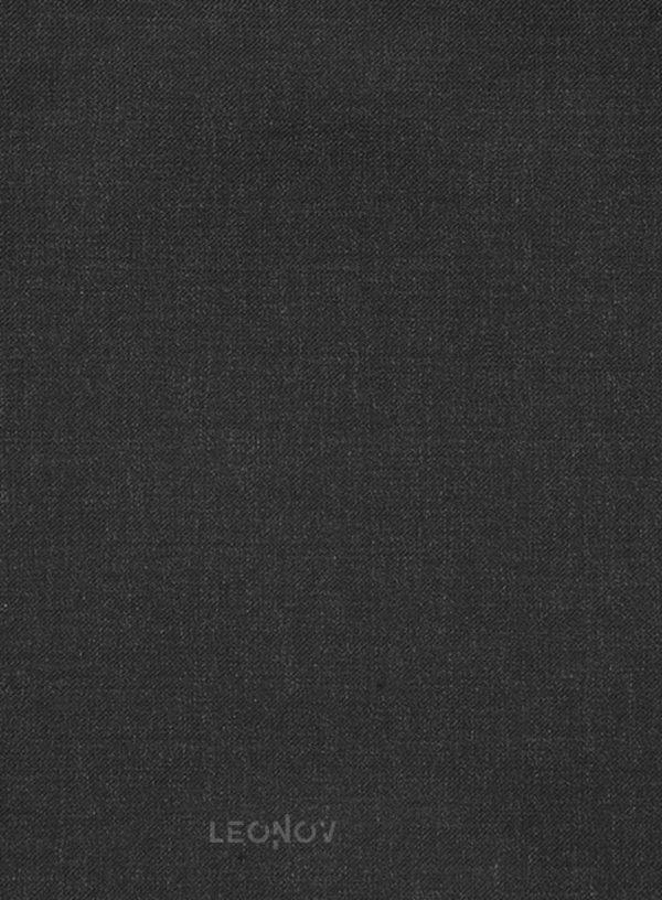 Угольно-серый костюм из камвольной шерсти