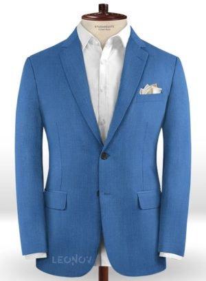 Ярко-синий пиджак из шерсти – Scabal
