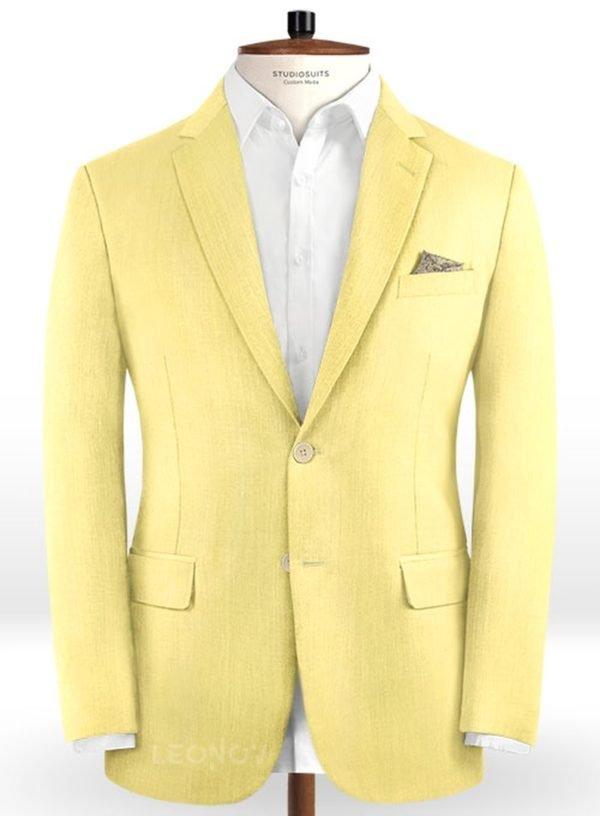 Желтый пиджак из шерсти – Scabal