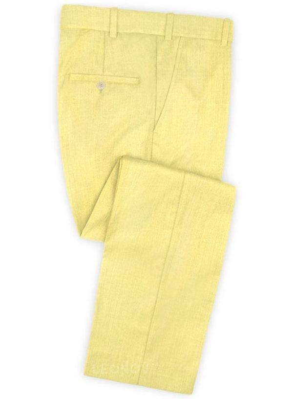 Желтые брюки из шерсти – Scabal