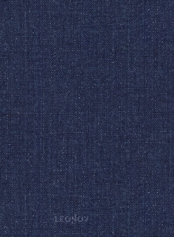 Летний костюм из льна джинсовый темно-синий