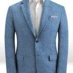 Летний светло-синий пиджак из льна – Solbiati