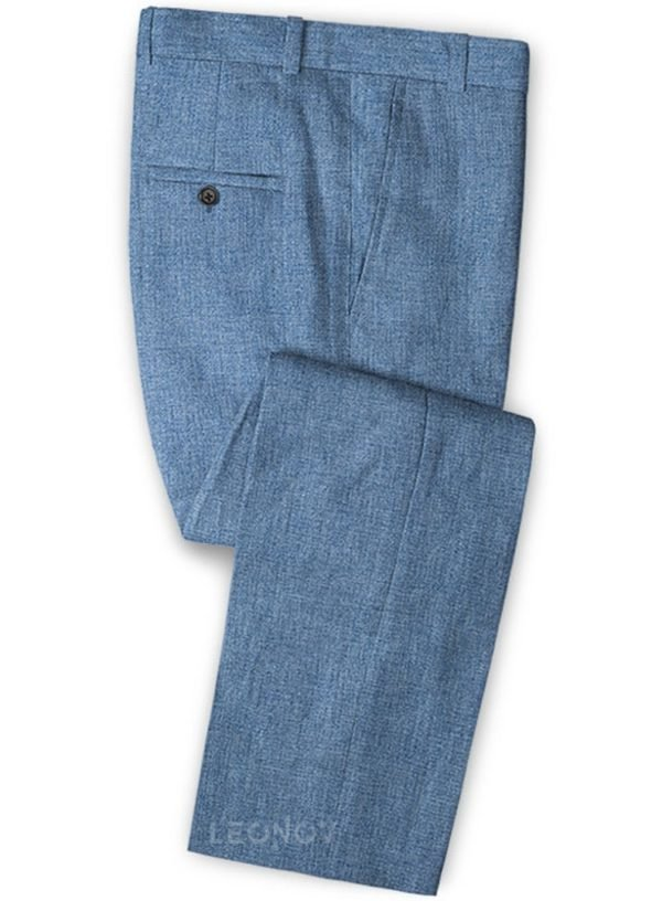 Летние светло-синие брюки из льна – Solbiati
