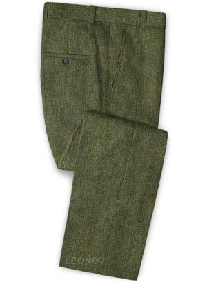 Летний зеленые брюки из льна – Solbiati
