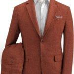 Летний костюм темно-бордовый из льна