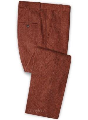 Летние брюки темно-бордовый из льна – Solbiati