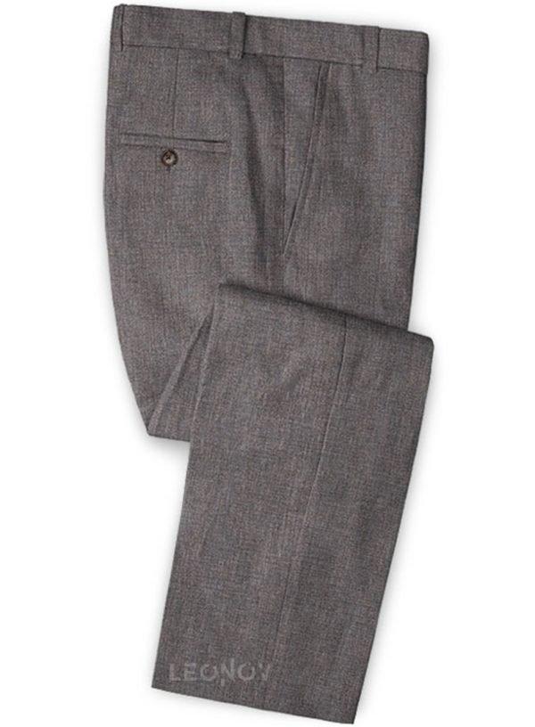 Серые летние брюки из льна