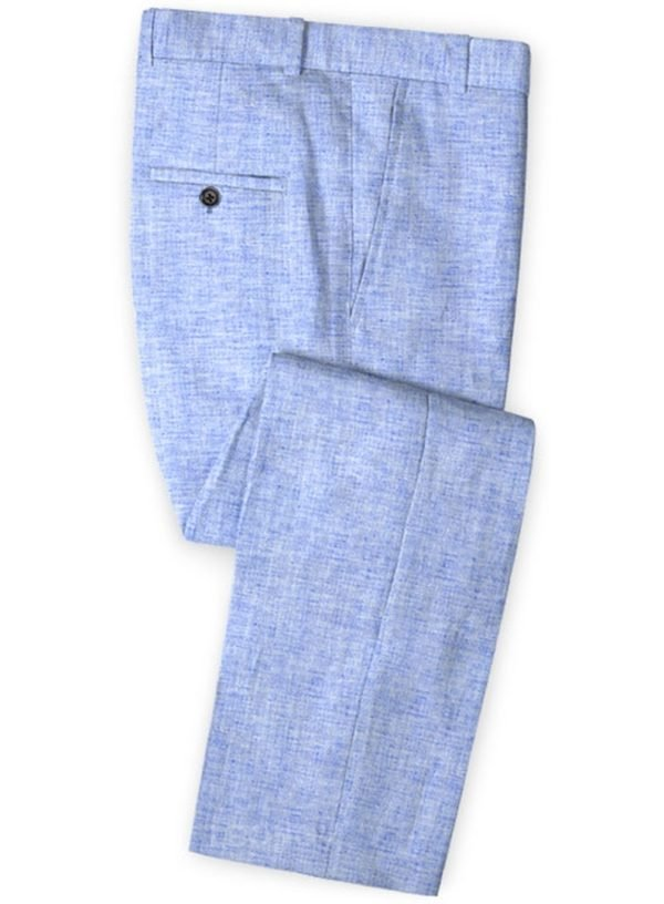 Летние голубые мужские брюки из льна – Solbiati