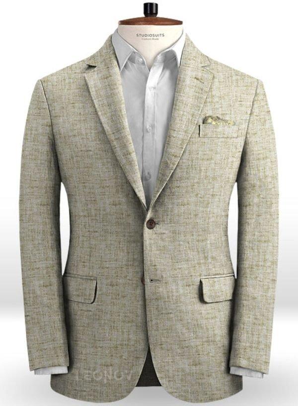 Летний серый пиджак из льна – Solbiati