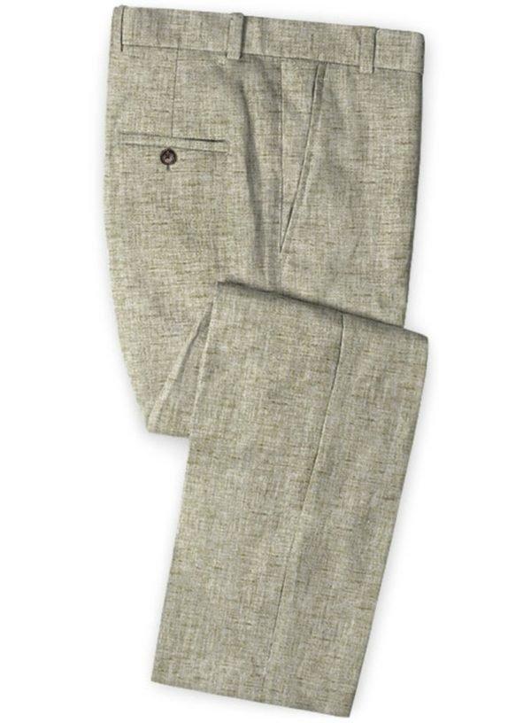 Летние серые брюки из льна – Solbiati