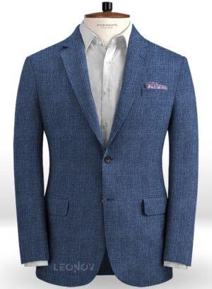 Пиджак королевский синий из льна – Solbiati