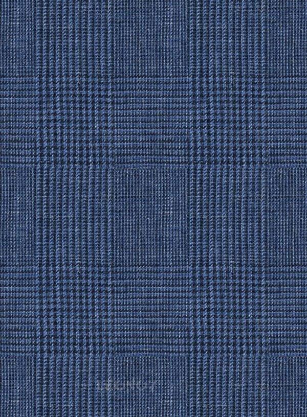 Костюм королевский синий из льна