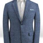Летний синий пиджак из льна – Solbiati