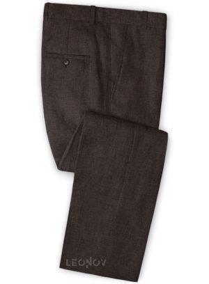 Летние коричневые брюки из льна – Solbiati