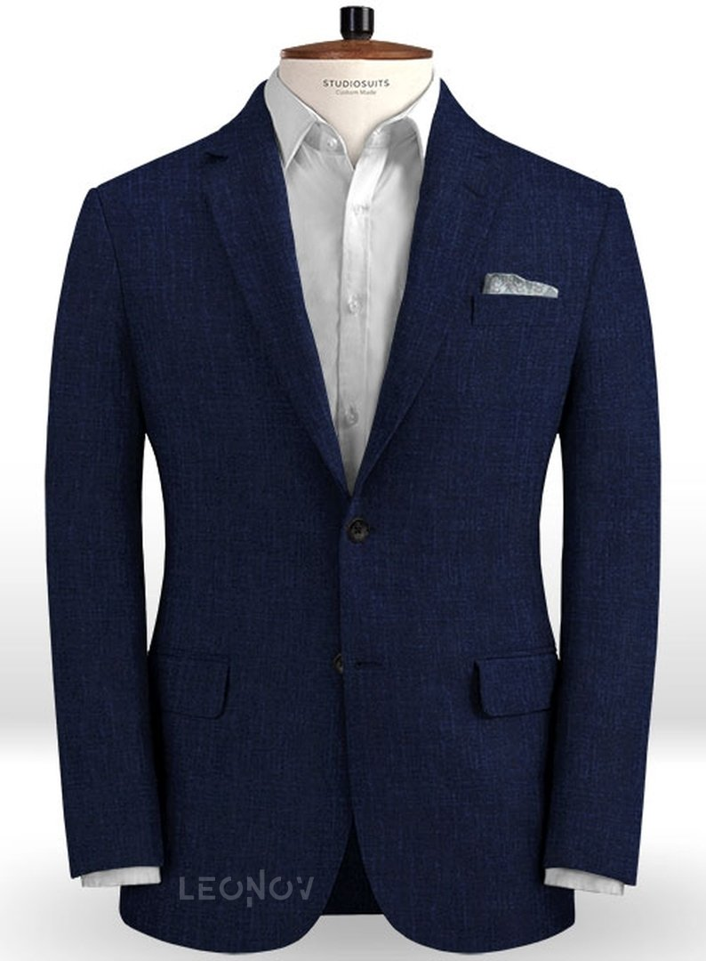 Летний темно-синий костюм из льна – Solbiati в Санкт ...  Темно Синий Костюм Рубашка