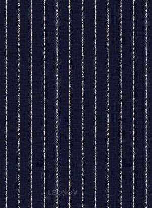 Костюм темно-синий в контрастную полоску из льна