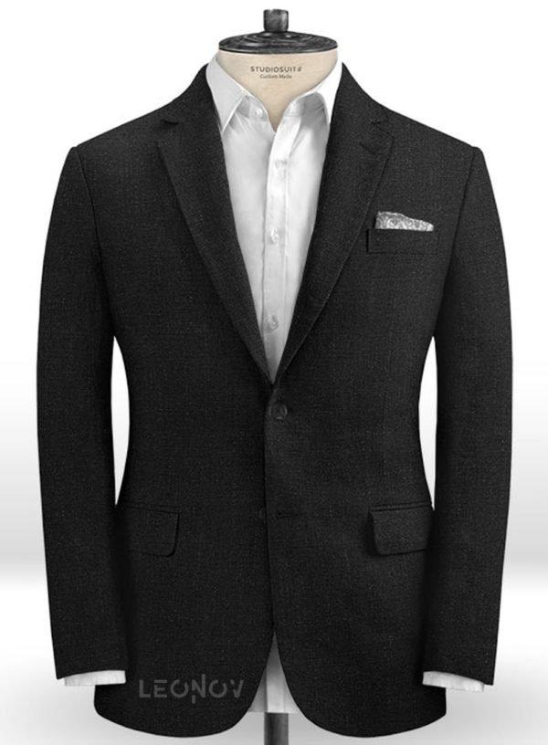 Офисный пиджак костюм из шелка, шерсти и льна – Solbiati