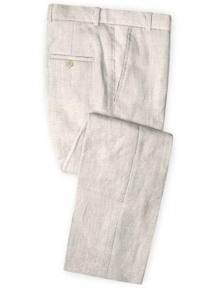 Белые свадебные брюки из шелка, шерсти и льна – Solbiati