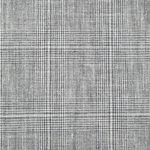Серый костюм в клетку из шерсти, льна и шелка
