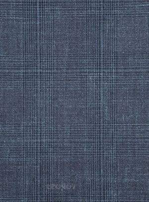 Повседневный синий костюм из шерсти и шелка