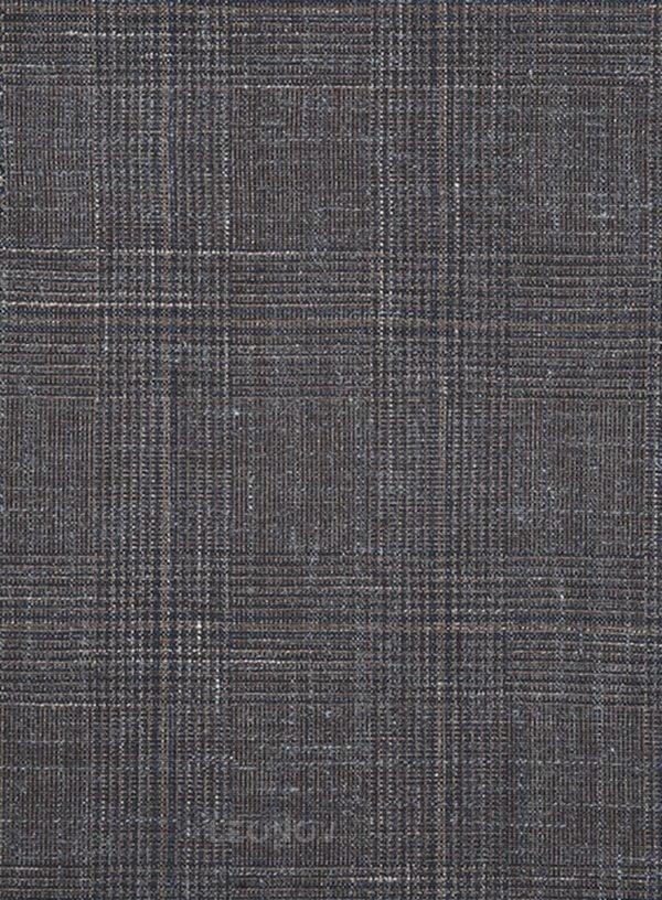 Серый деловой костюм из шерсти, льна и шелка